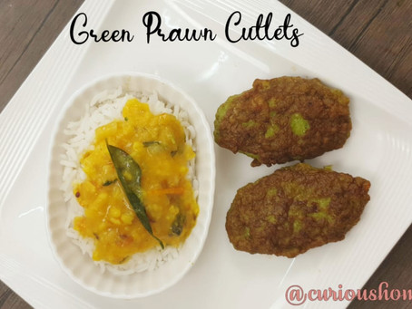 Quick & Easy Green Prawns Cutlets