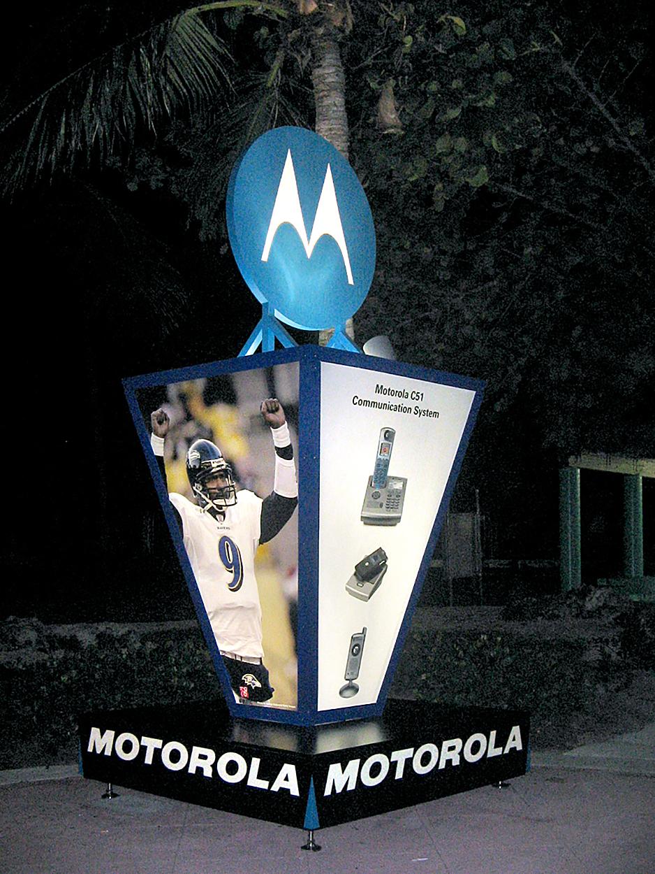 Super Bowl Motorola Display