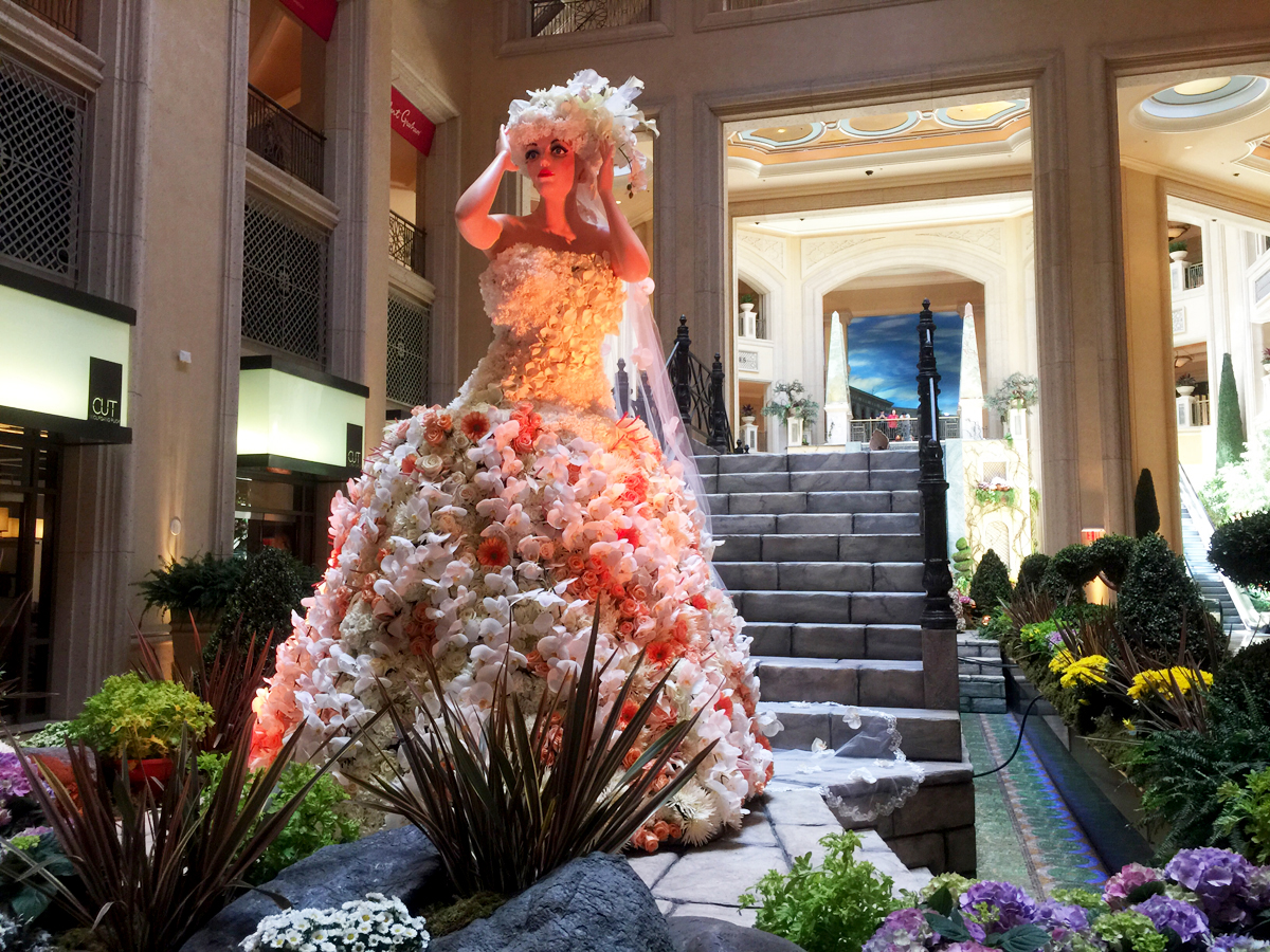 Floral Themed Sculptures at the Venetian