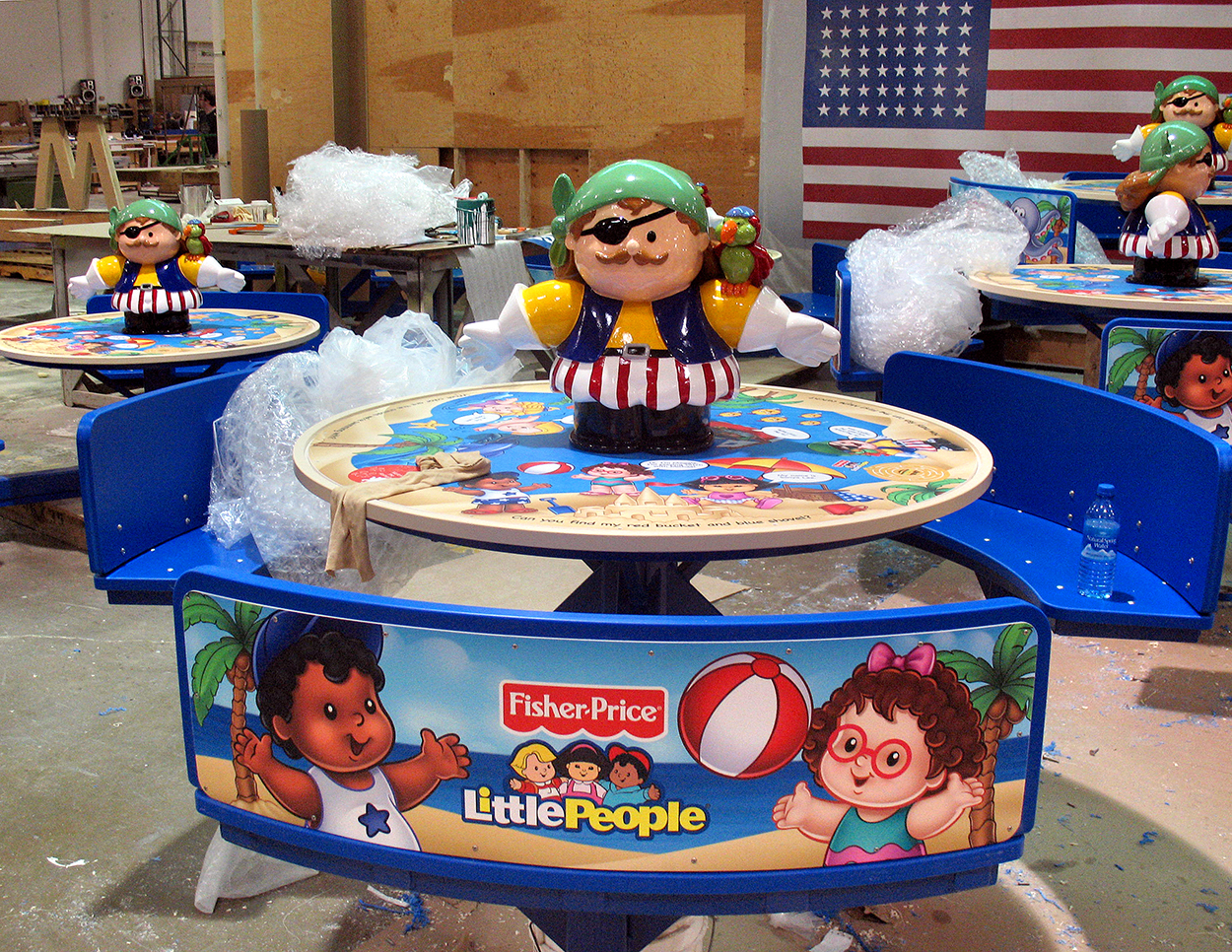 Fisher Price Pirate Tables, Carnival Cruise Lines