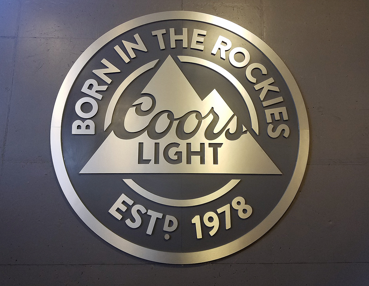 Custom Coors Light Sign