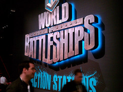 World of Battleships sign for Catalyst Exhibits