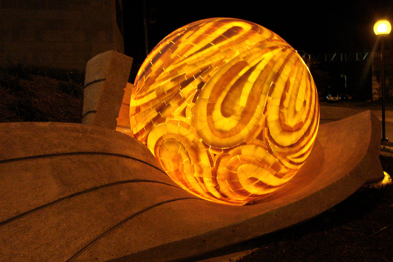 Illuminated Onyx Sculpture