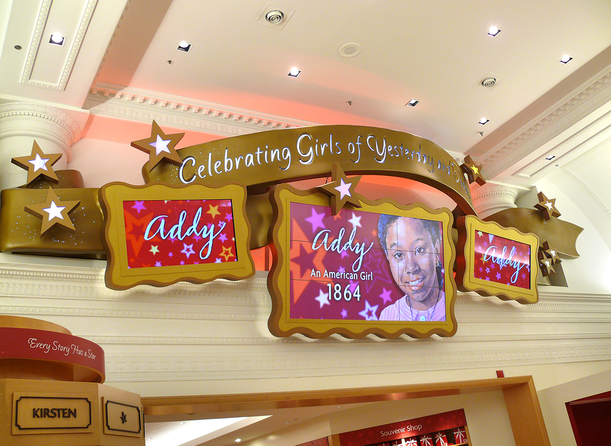 Multimedia Display for The American Girl Store, Chicago