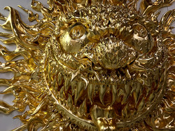 Gold Leaf Sun Sculpture