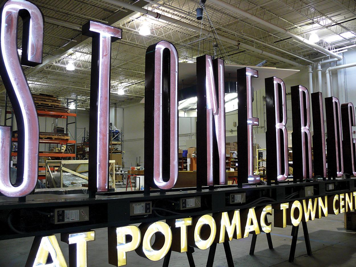 Neon Sign for The Stonebridge Mall