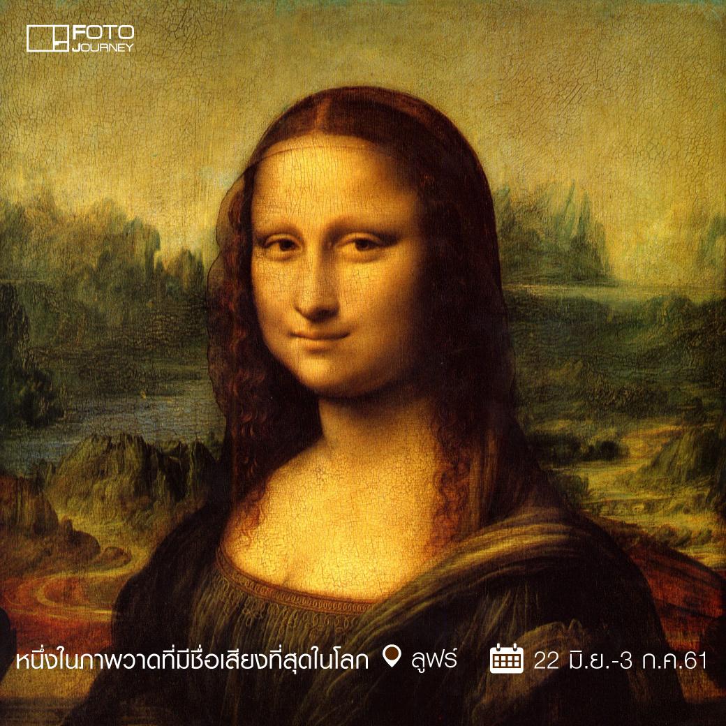 1. Mona Lisa โดย Leonardo da Vinci