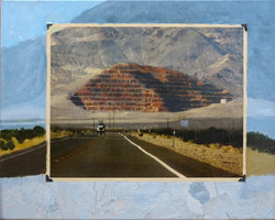 Pyramid as seen on a road in Nevada