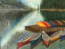 Elke Goodno-Boats in the Mist