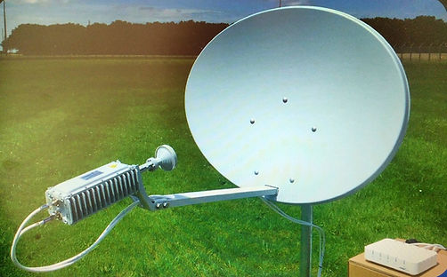 Спутниковая антенна, модем и приемоперед