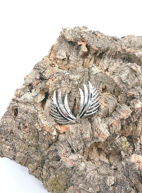 Trifari clipons in silver