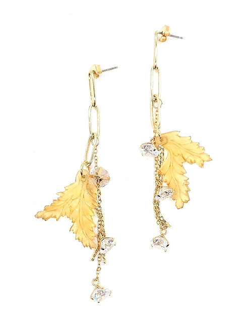 Kyoto leaf earrings
