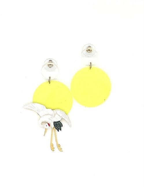 Kyoto crane earrings