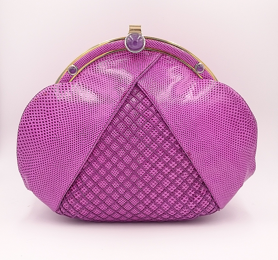 Unique Leiber purple bag