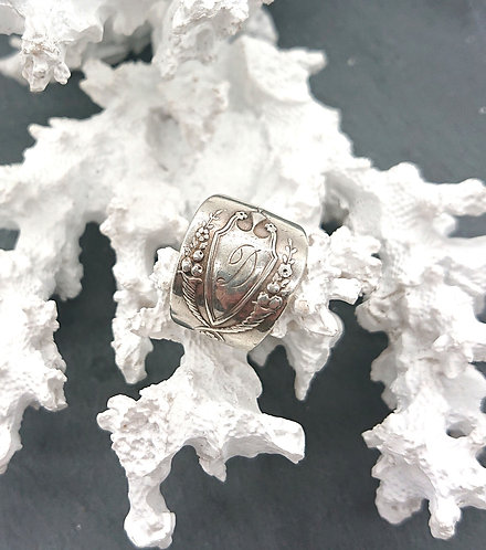 Sterling initial ring