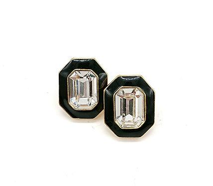 Octagon Trifari earrings