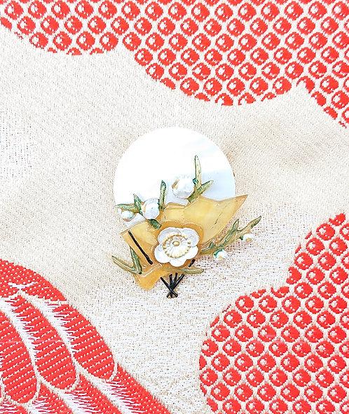 Kyoto cherry blossom brooch