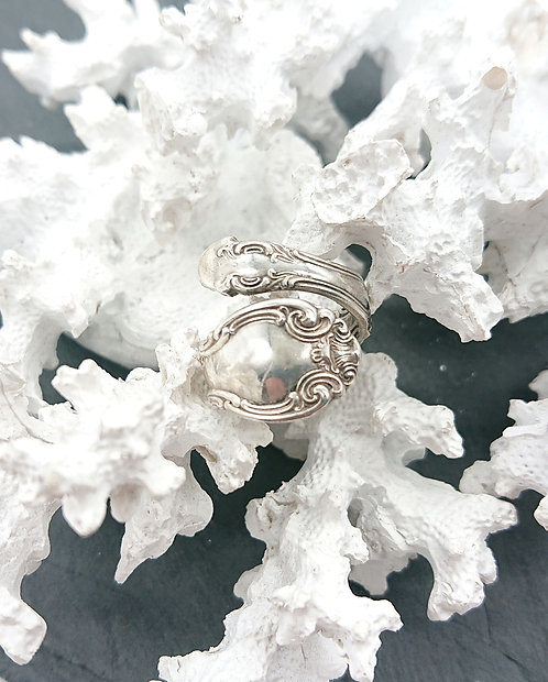 Alvin sterling spoon ring