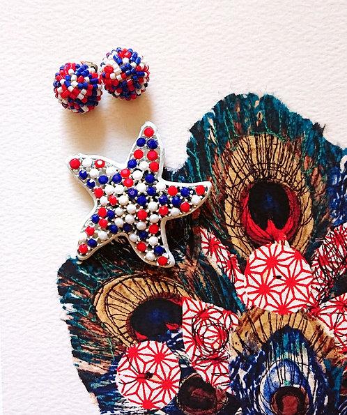 Lisner starfish brooch