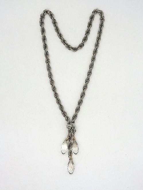 Vintage rope laviat necklace