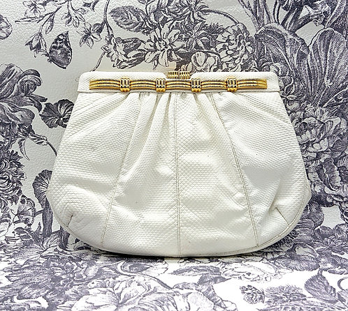 White Judith Leiber purse