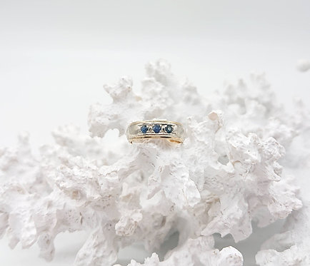 Pinky Ring with Blue Sapphire
