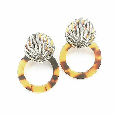 Reconstructed Trifari earrings
