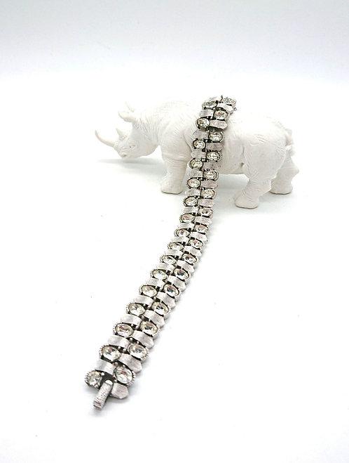 Trifari silver plating rhinestone bracelet