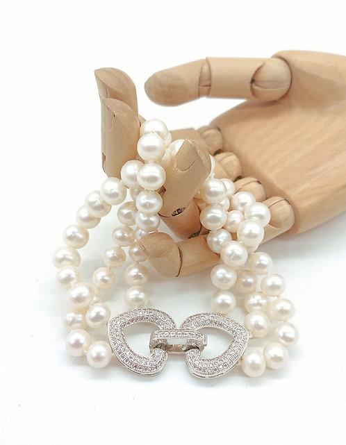 3 Strands Freshwater Pearl Bracelet