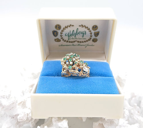 Stunning Emerald ring with Diamond