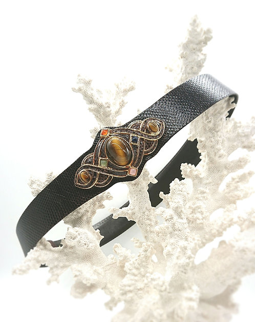 Judith Leiber leather belt
