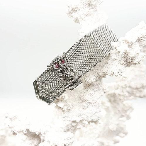Sarah Coventry owl mesh bracelet