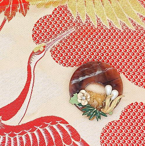 Kyoto garden brooch