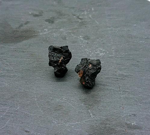Black quartz earrings