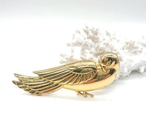 Coro sterling bird brooch