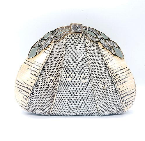 Finesse La Model snakeskin purse