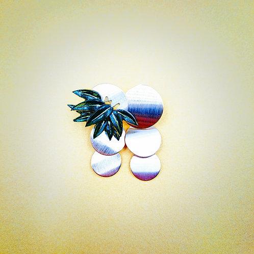 Kyoto bamboo leaf earrings