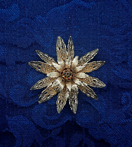 Corocraft filigree like brooch