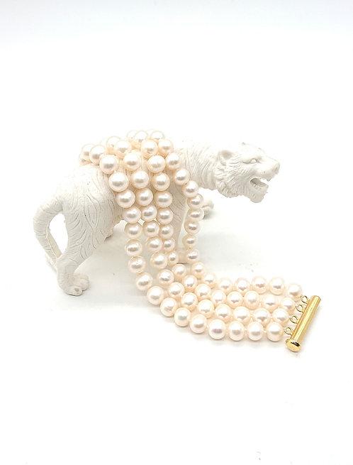 4 Strands freshwater pearl bracelet