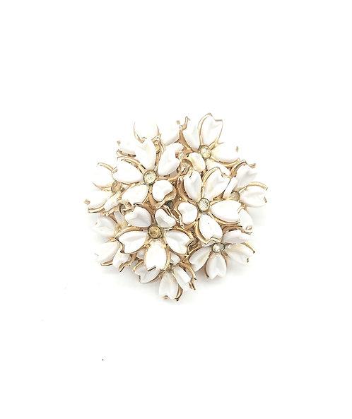 Unsigned flower brooch