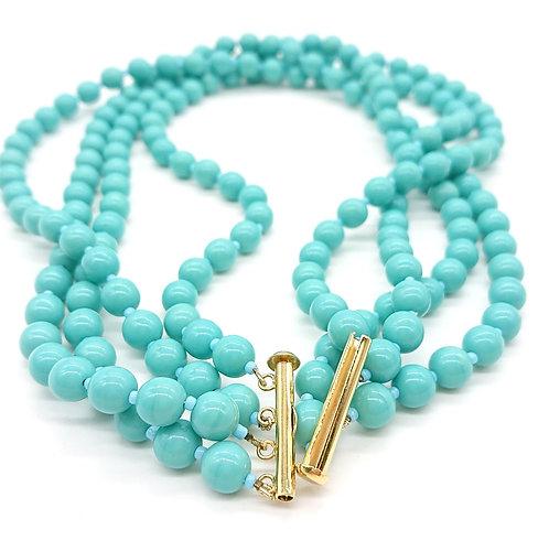 Turquoise colour necklace
