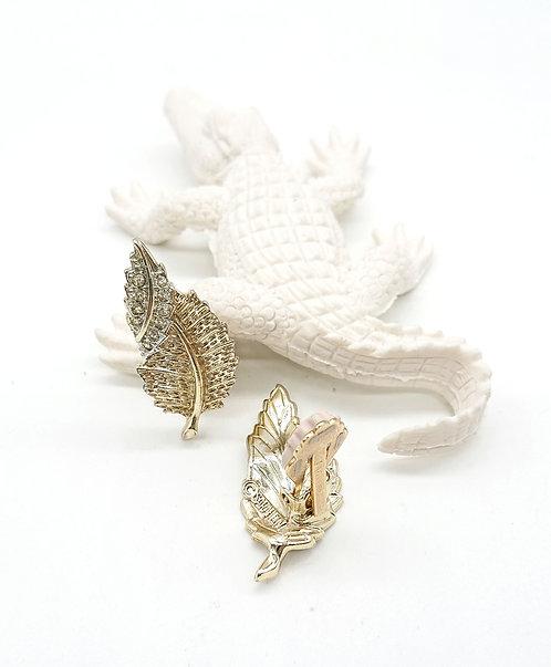 Sarah Coventry leaf clipons