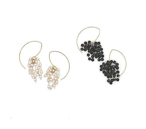 Crystal grapes earrings