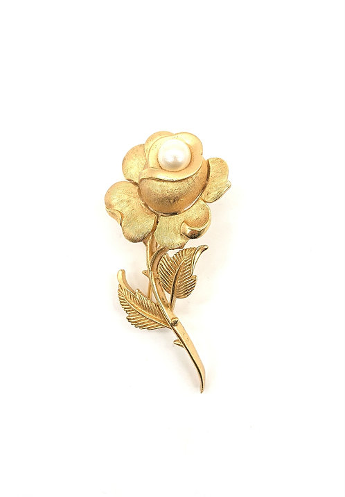 Trifari rose brooch