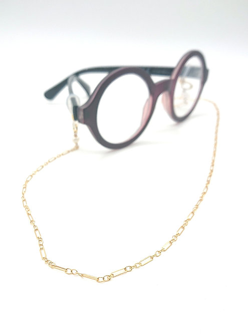 Paperclip glasses chain with pearls