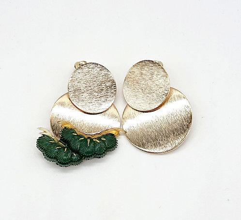 Kyoto pine leaf earrings
