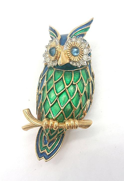 Jomaz owl brooch
