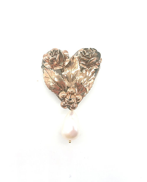 Hobe sterling silver brooch with pearl