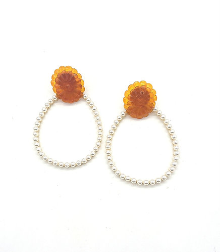 Kyoto floral dangling earrings