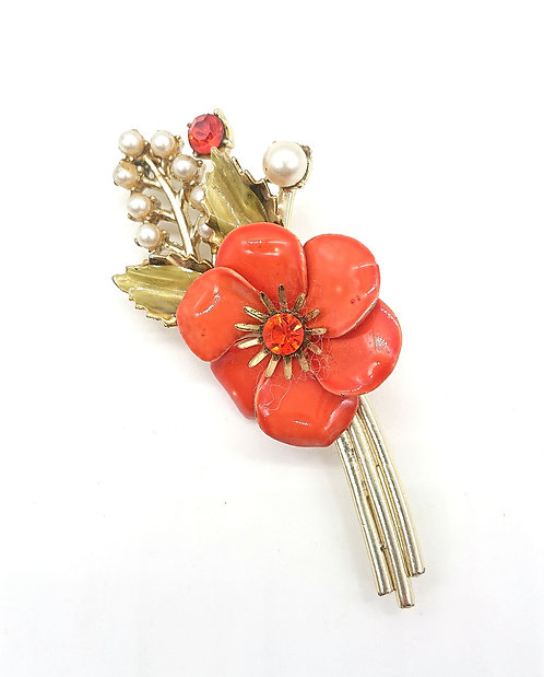 Bouquet brooch from Coro